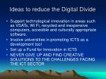 ideas to reduce the digital divide37