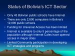 status of bolivia s ict sector