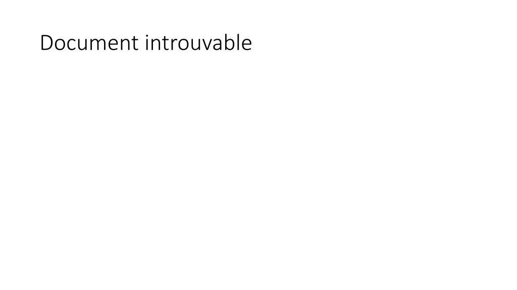 Document introuvable