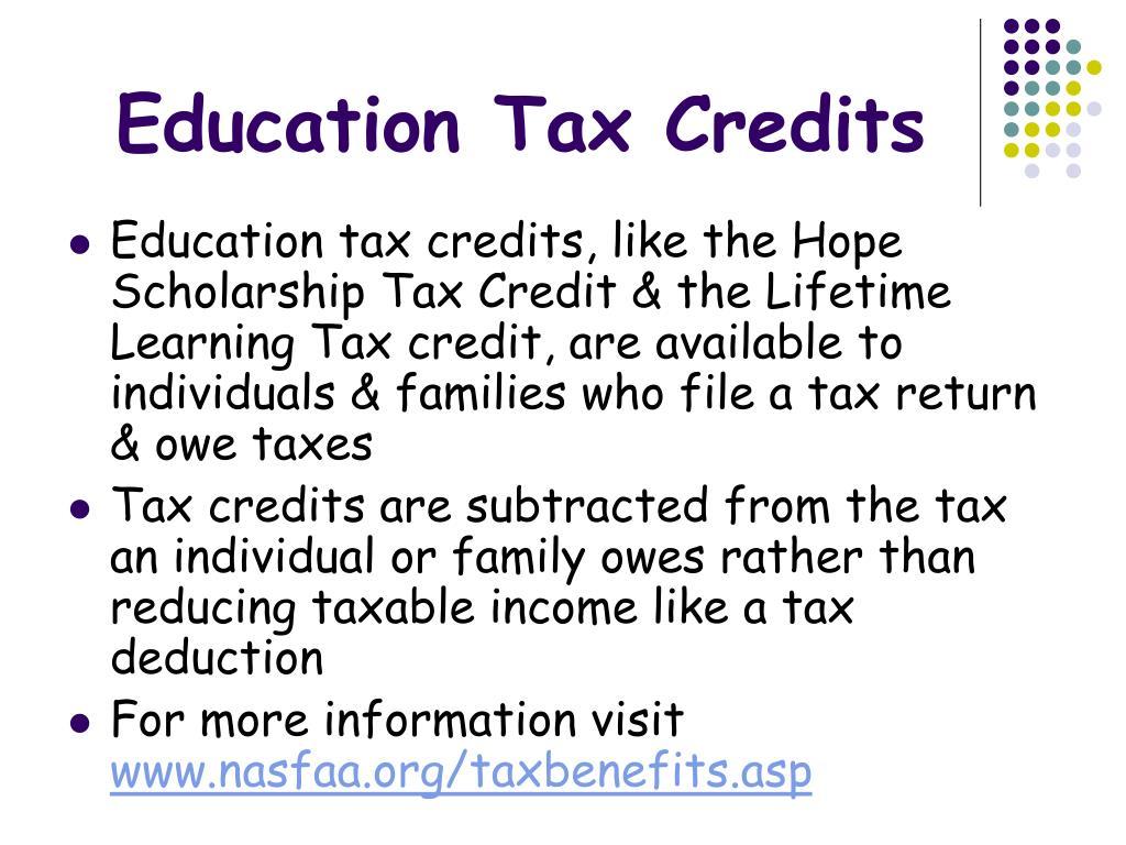 Education Tax Credits