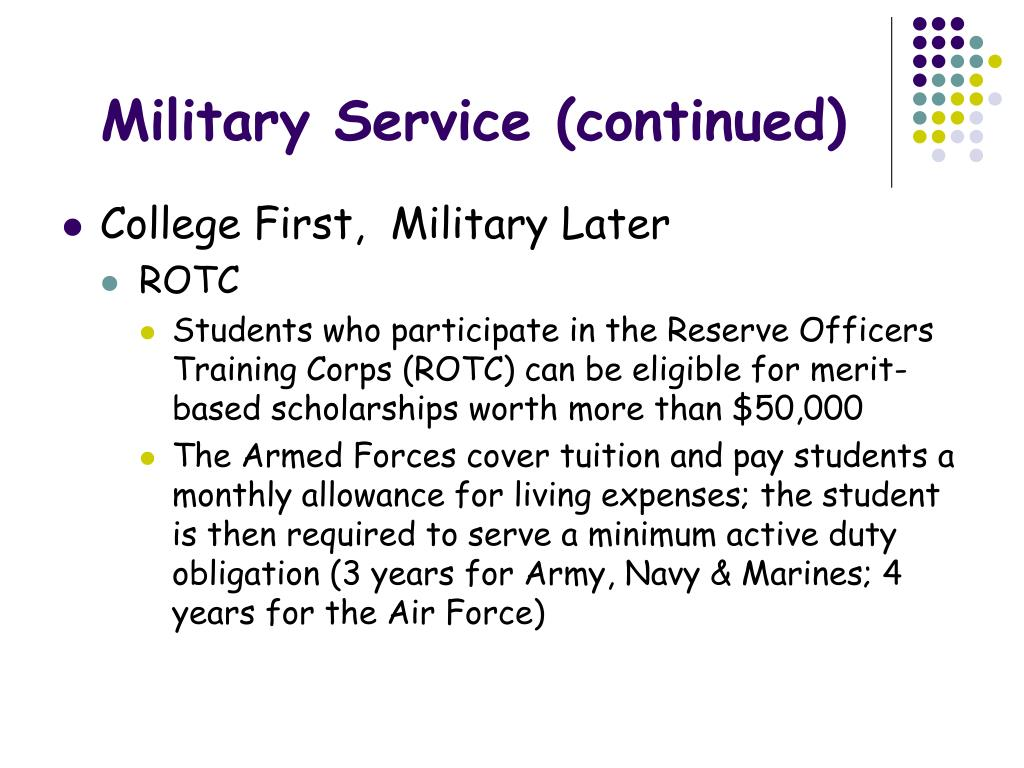 Military Service (continued)