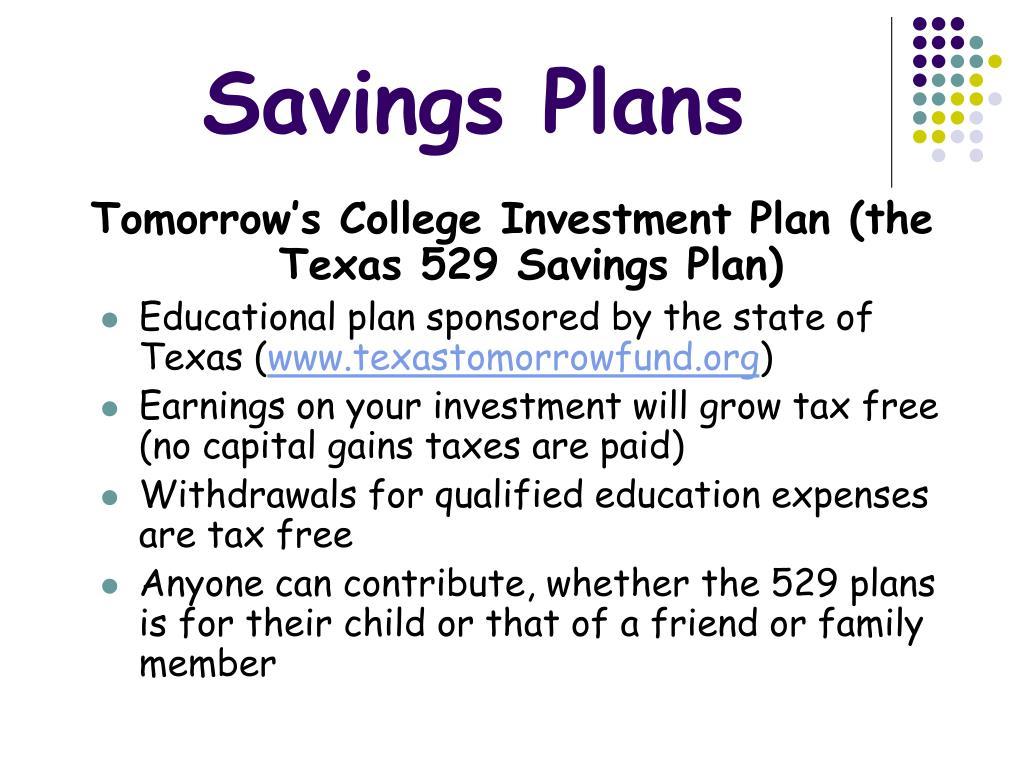 Savings Plans