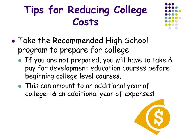 Tips for reducing college costs