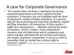 a case for corporate governance