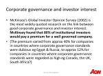 corporate governance and investor interest