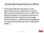 corporate governance in africa