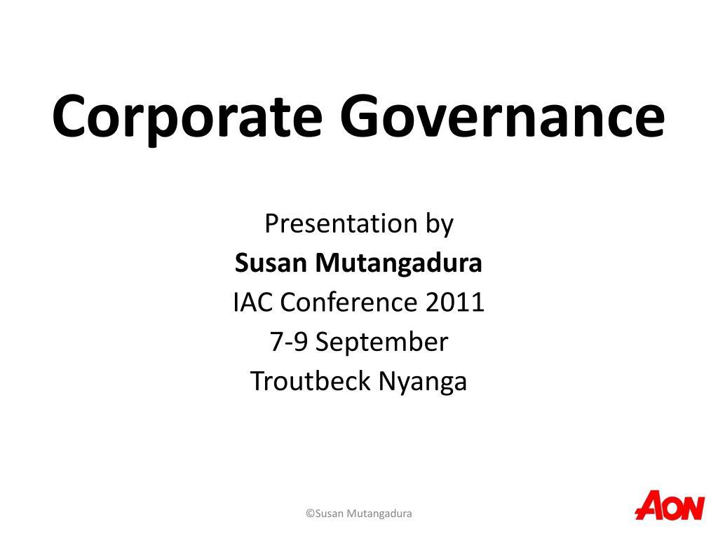 corporate governance l.