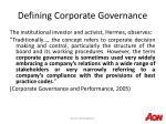 defining corporate governance5