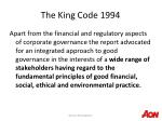 the king code 1994