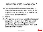 why corporate governance12