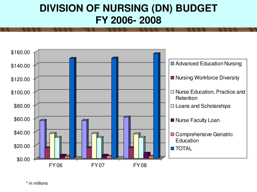 DIVISION OF NURSING (DN) BUDGET