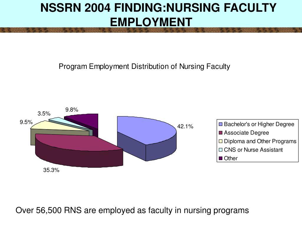NSSRN 2004 FINDING:NURSING FACULTY EMPLOYMENT