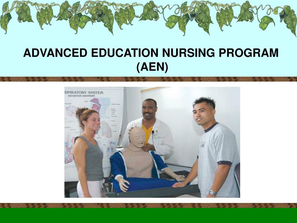 ADVANCED EDUCATION NURSING PROGRAM