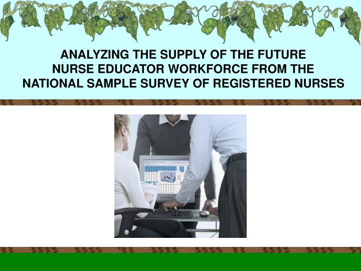 ANALYZING THE SUPPLY OF THE FUTURE