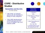 core distributive studies