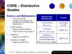 core distributive studies26