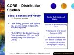 core distributive studies27