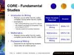 core fundamental studies