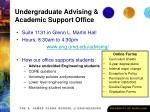 undergraduate advising academic support office