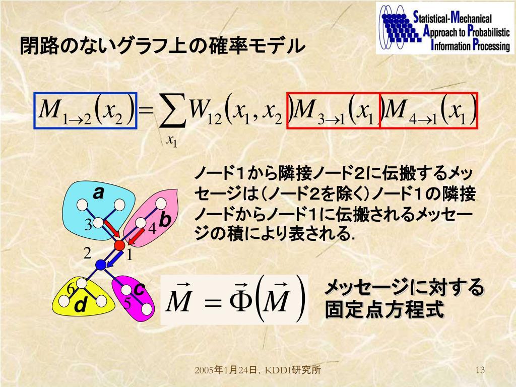 閉路のないグラフ上の確率モデル