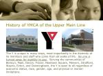history of ymca of the upper main line4