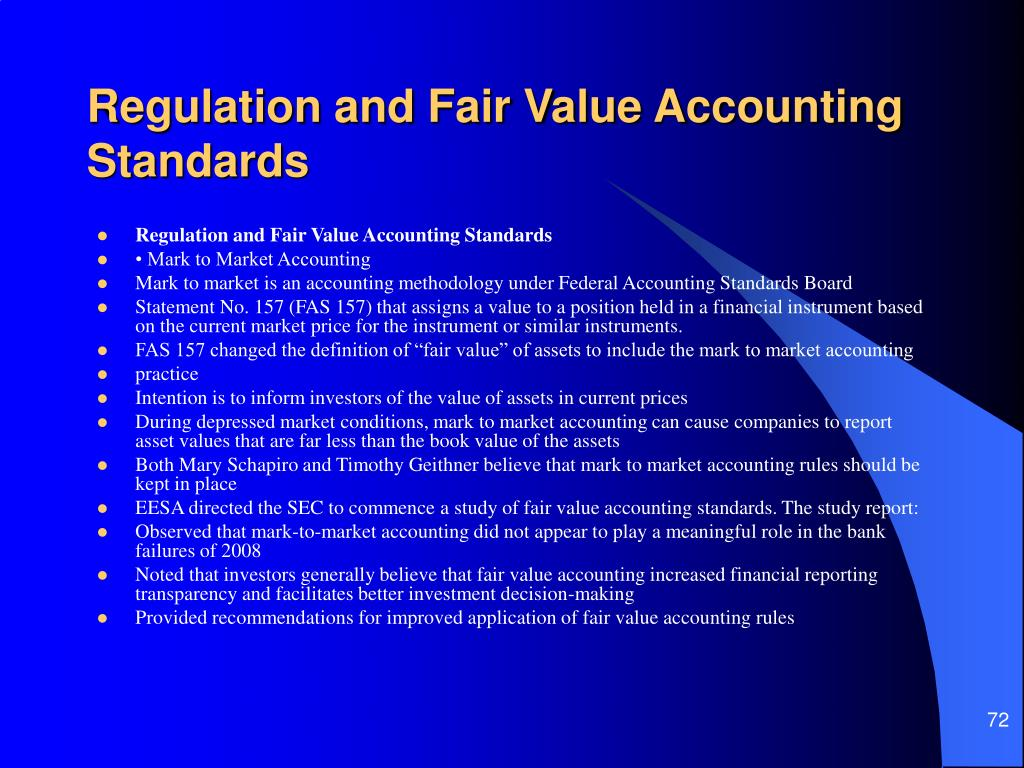 Regulation and Fair Value Accounting