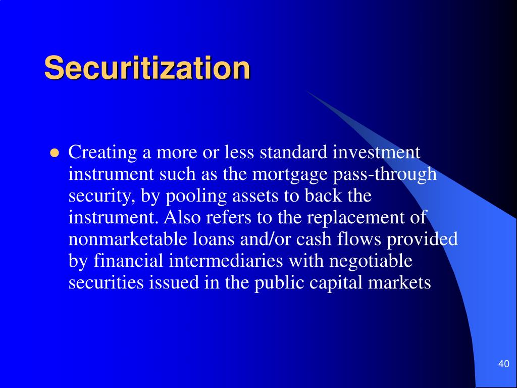 Securitization