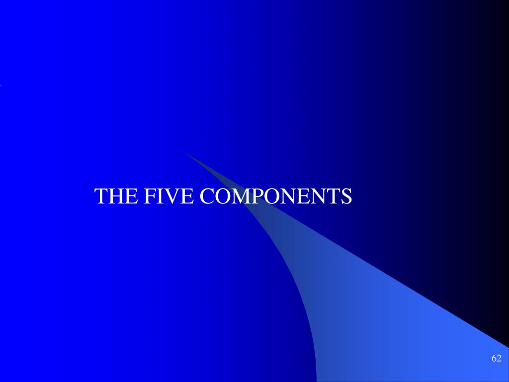 THE FIVE COMPONENTS