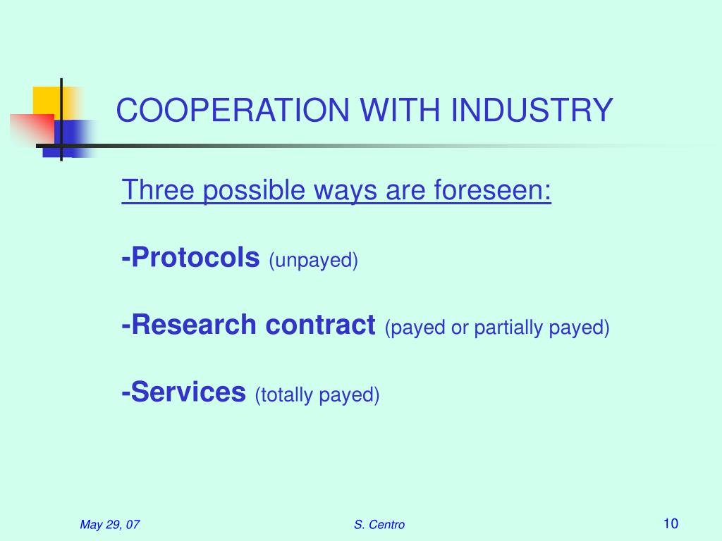 COOPERATION WITH INDUSTRY