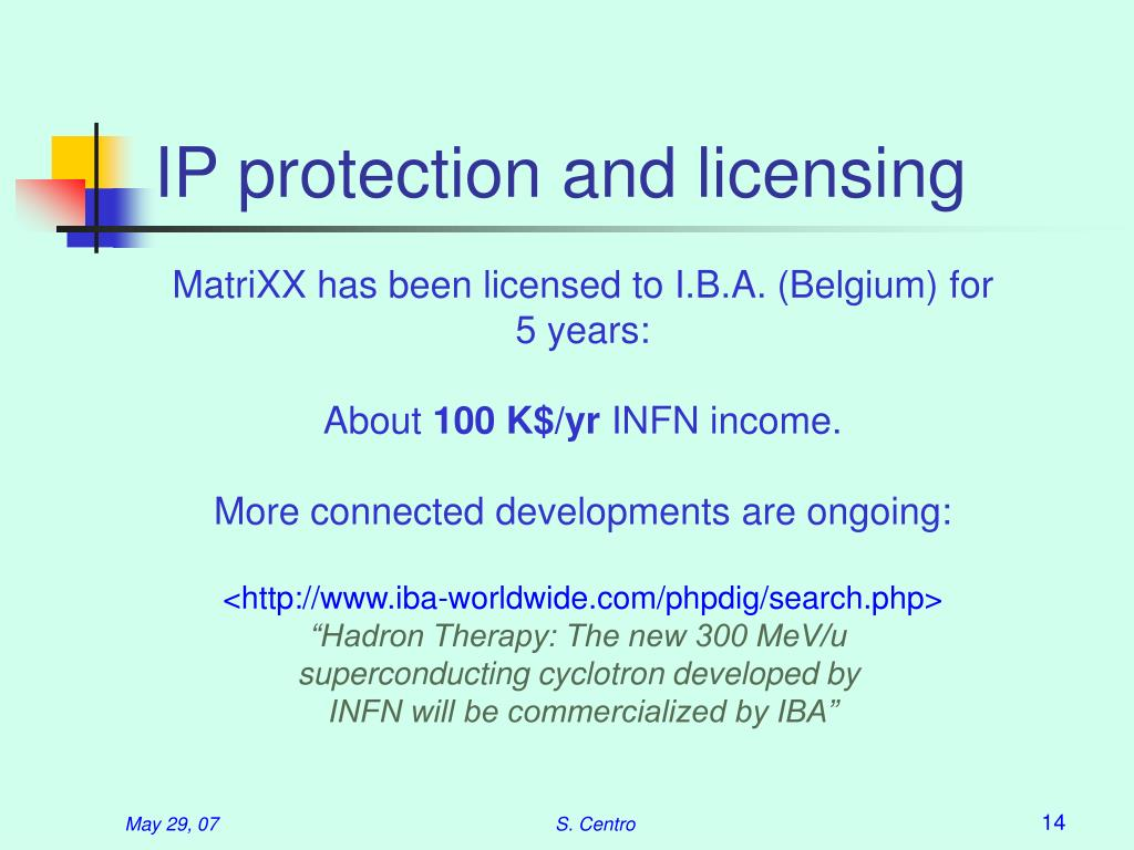 IP protection and licensing