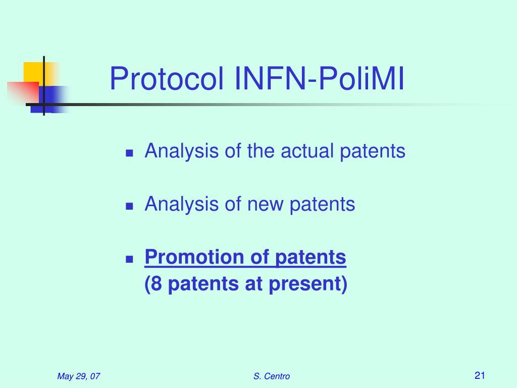 Protocol INFN-PoliMI
