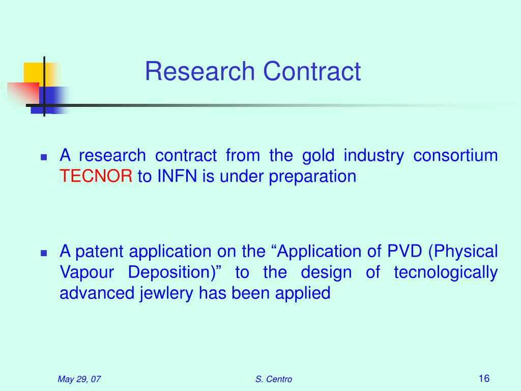 Research Contract