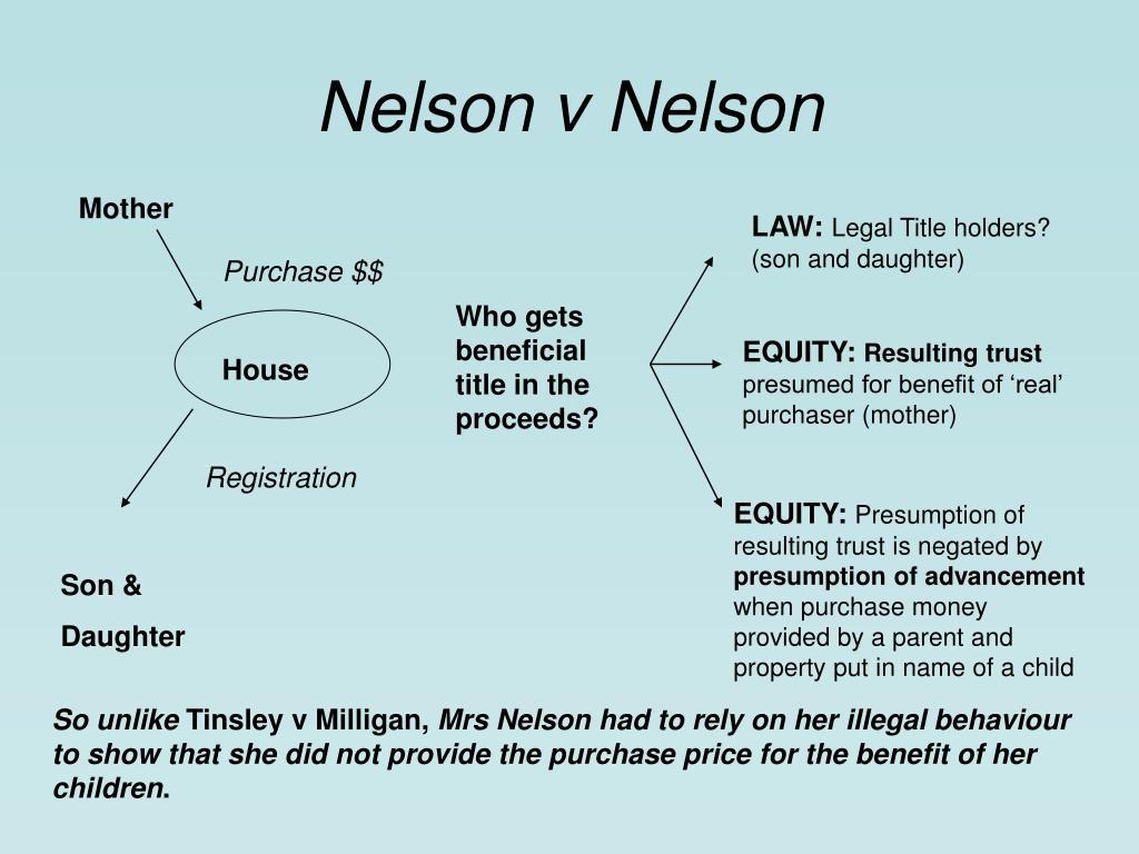 Nelson v Nelson
