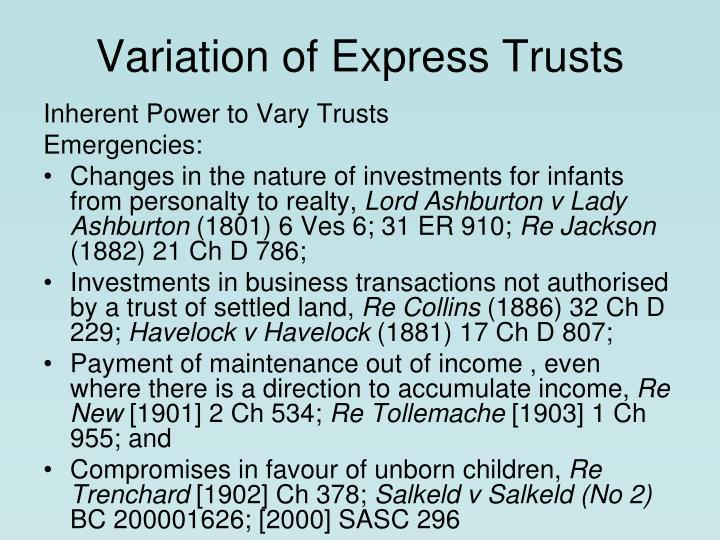Variation of express trusts3