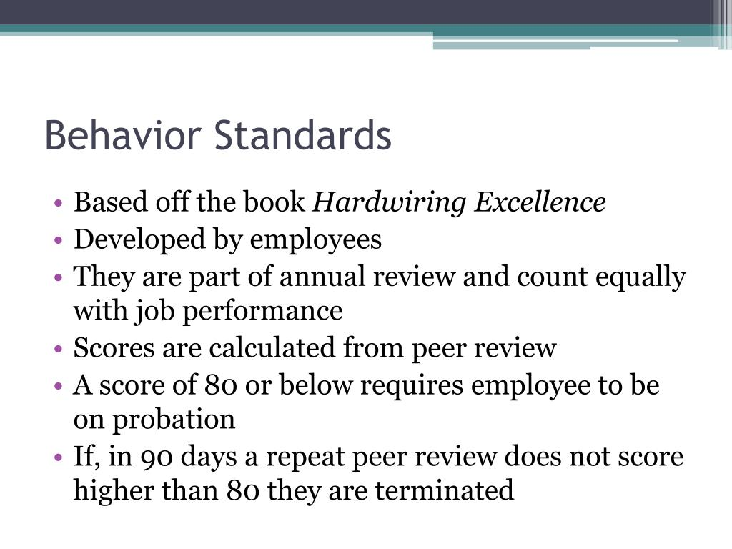 Behavior Standards