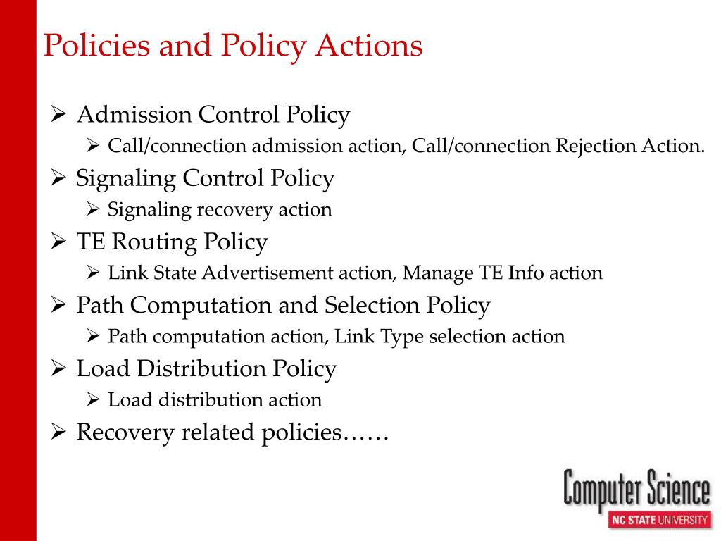 Policies and Policy Actions