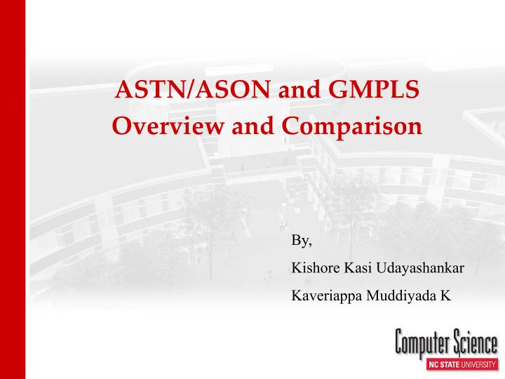 ASTN/ASON and GMPLS