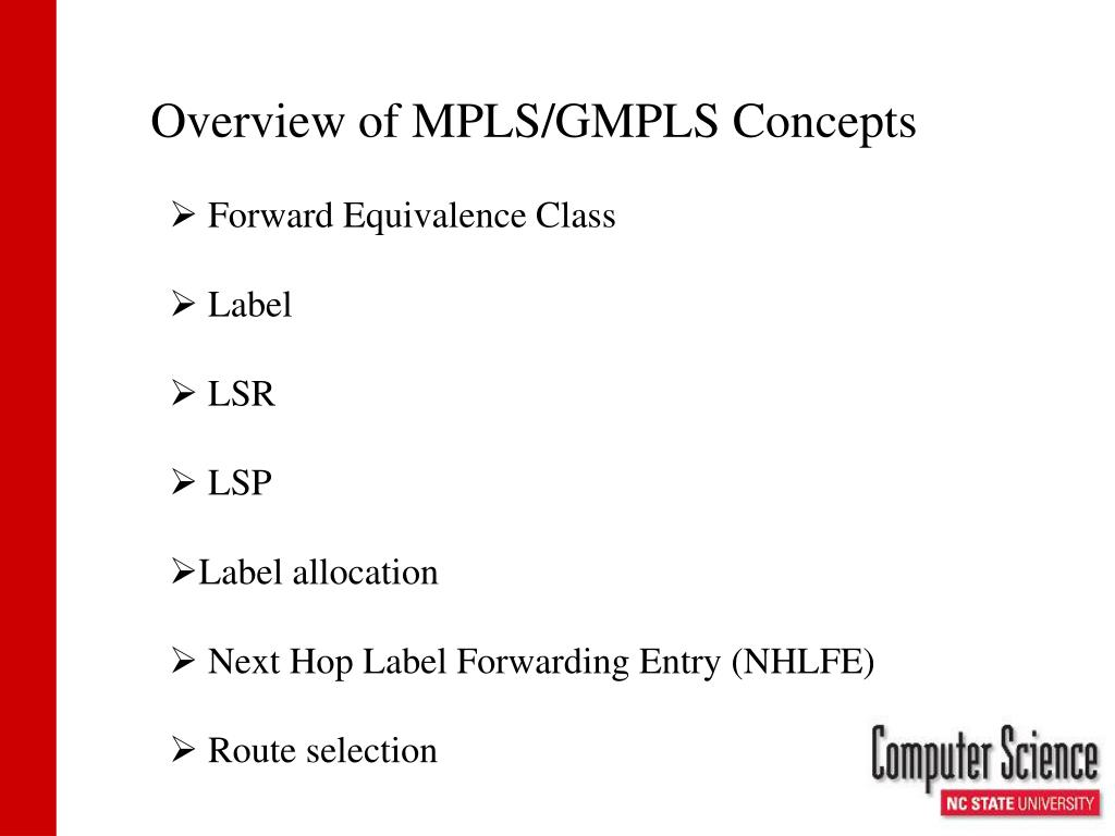 Overview of MPLS/GMPLS Concepts