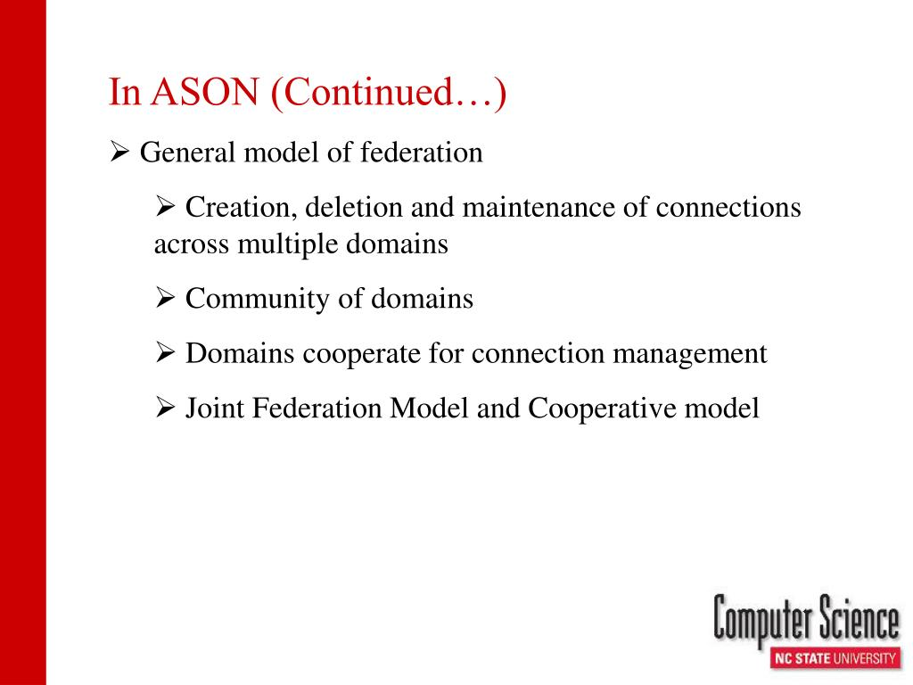 In ASON (Continued…)