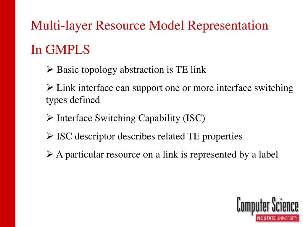 Multi-layer Resource Model Representation