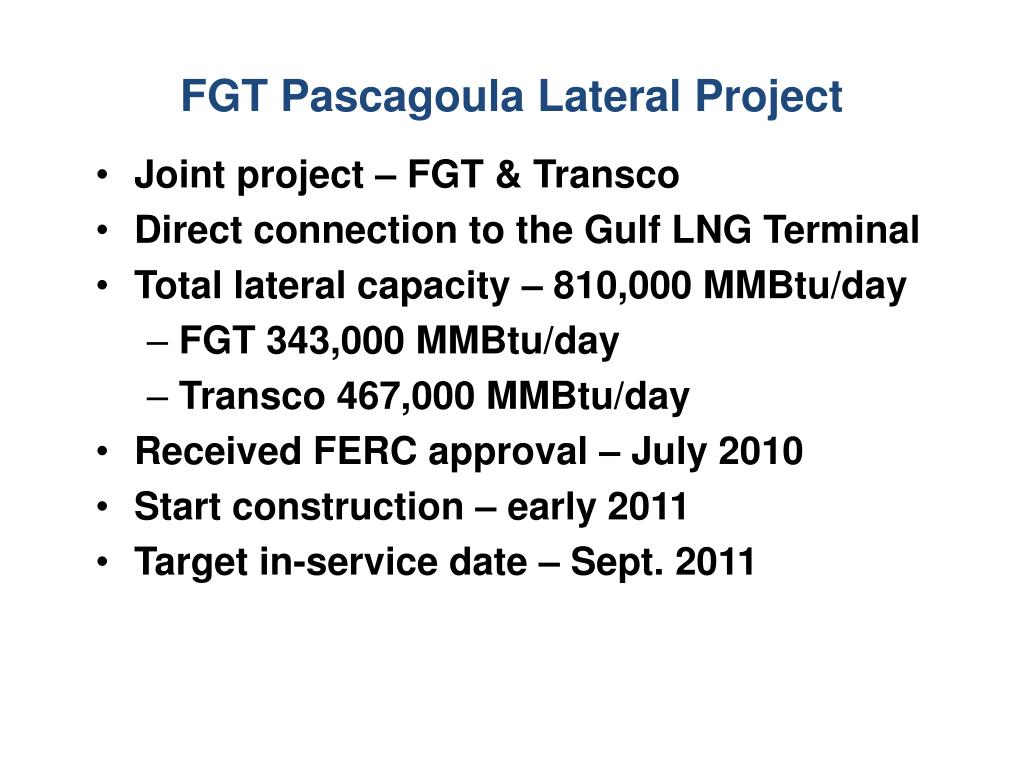 FGT Pascagoula Lateral Project