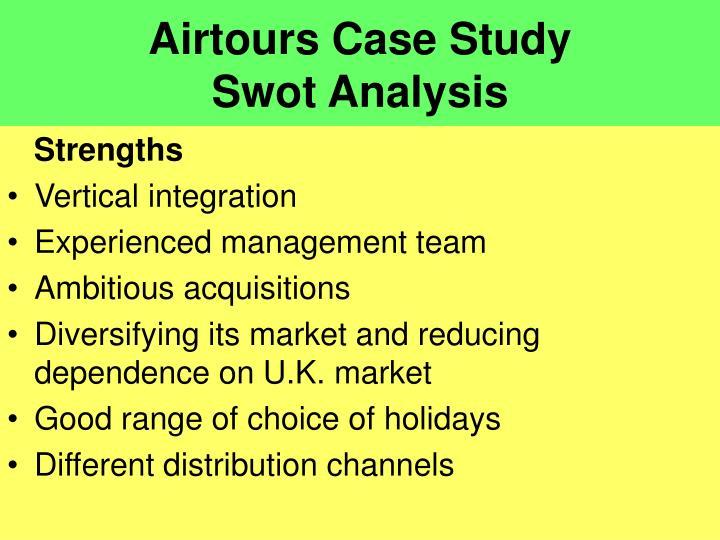 Airtours case study swot analysis