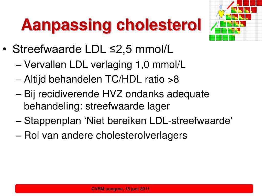 Aanpassing cholesterol