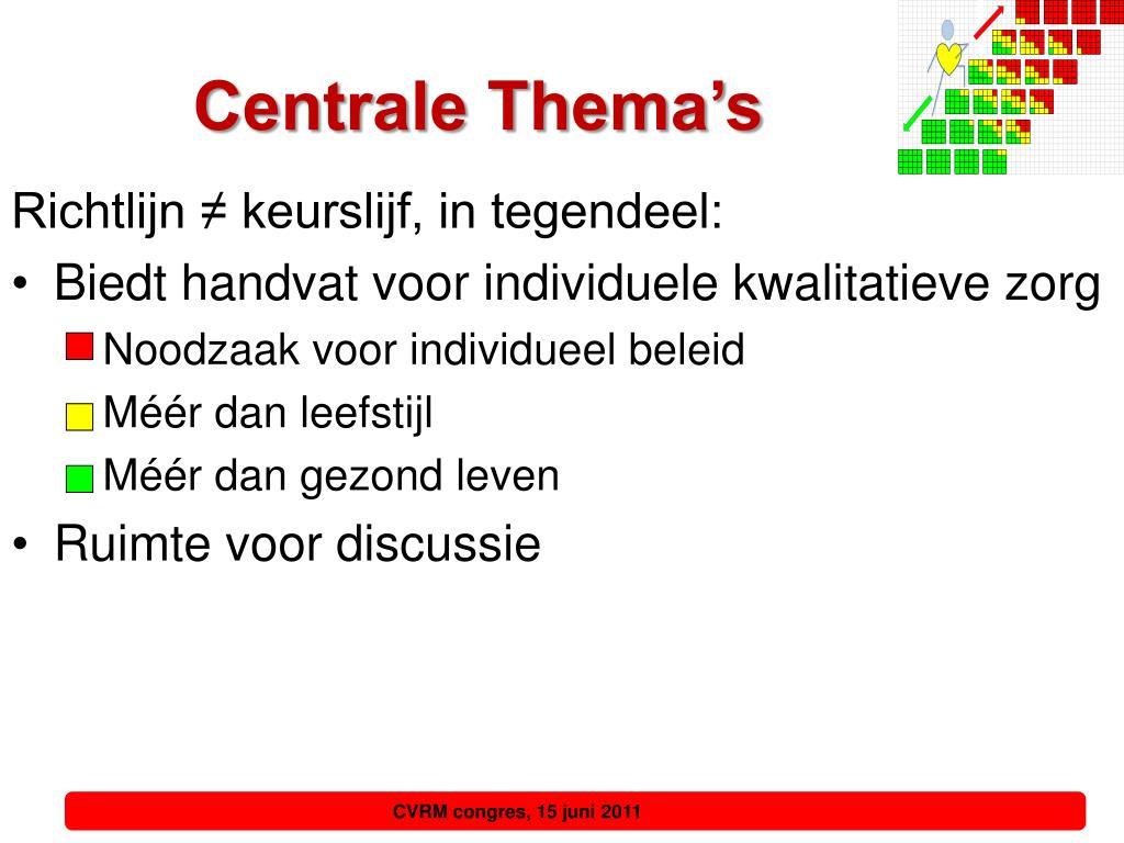 Centrale Thema's