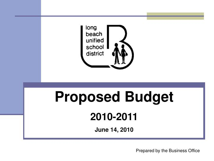 Proposed budget 2010 2011 june 14 2010