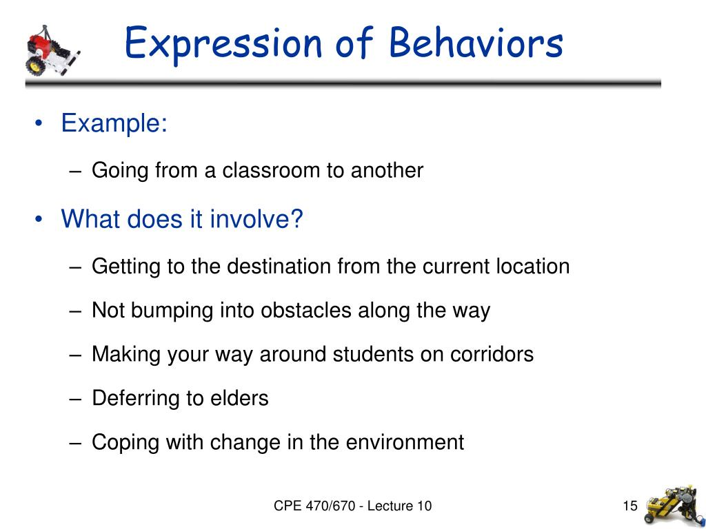 Expression of Behaviors