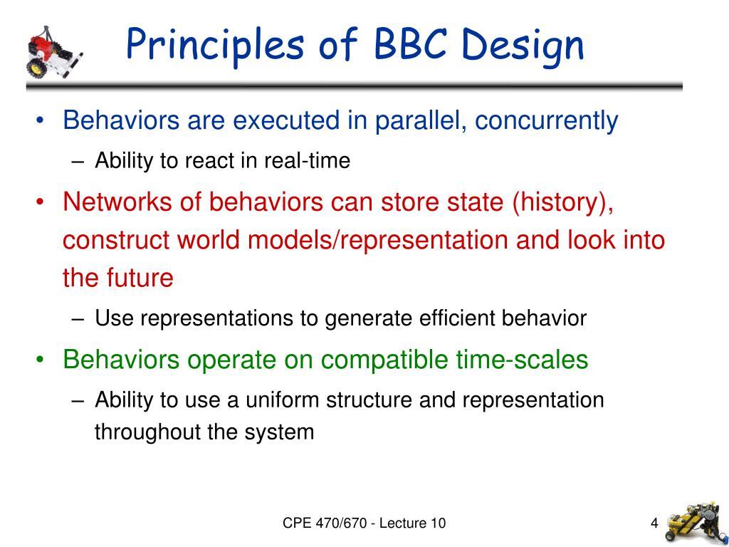 Principles of BBC Design