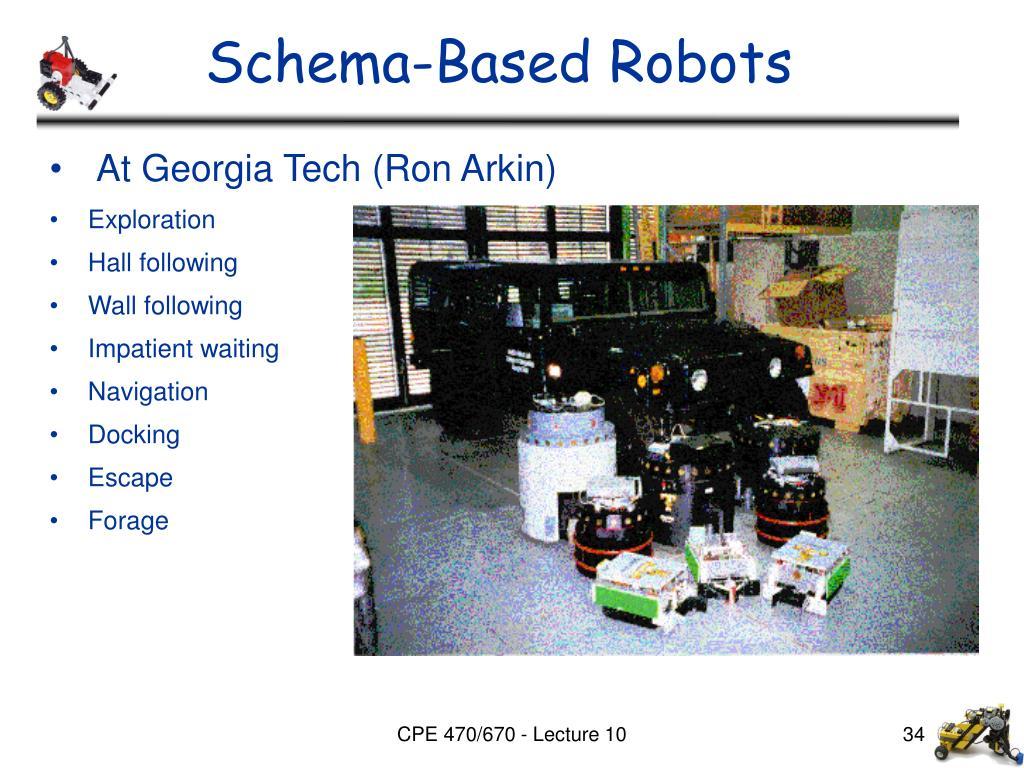 Schema-Based Robots