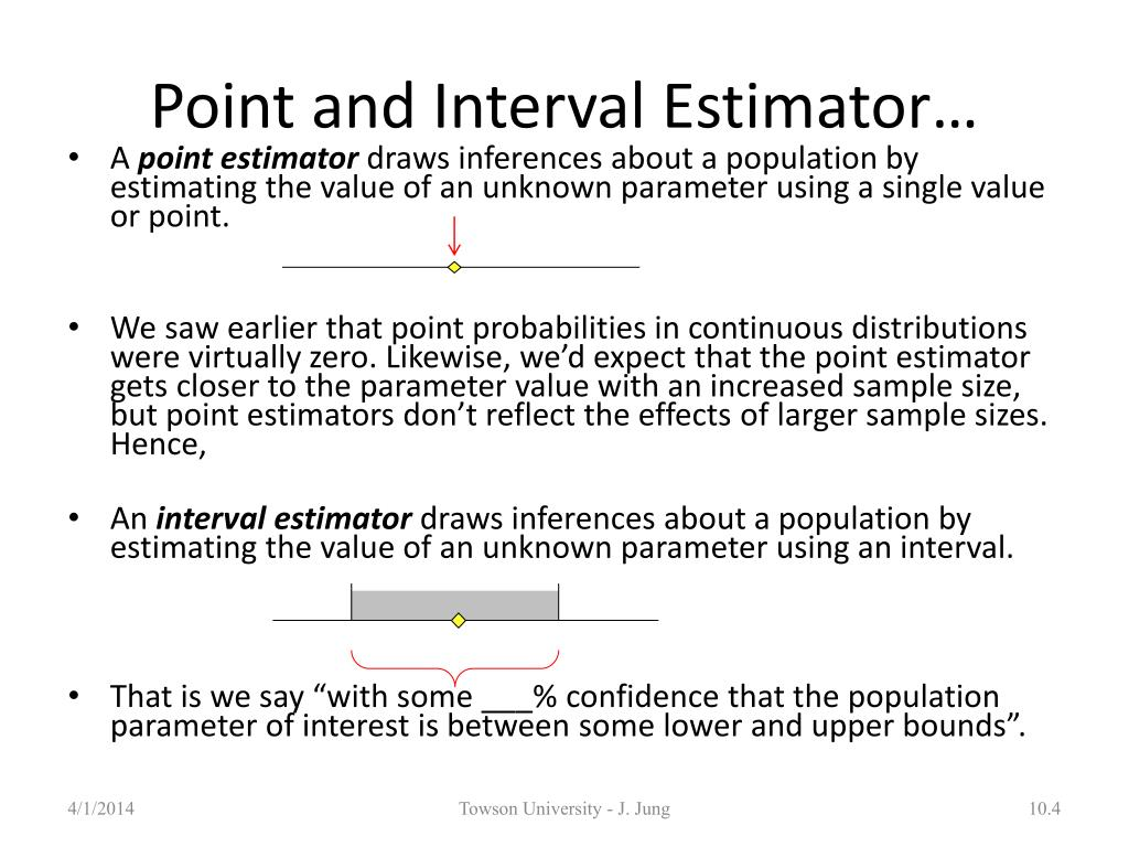 Point and Interval Estimator…