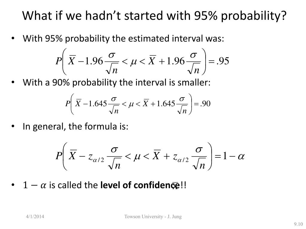 What if we hadn't started with 95% probability?